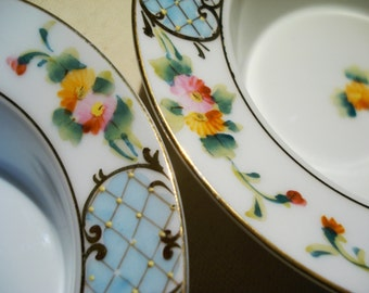 Pair of Hand Painted Nippon Bowls