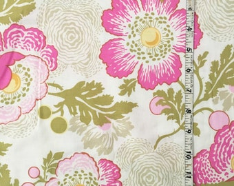 Amy Butler Midwest Modern Fabric, Pink, Green, Yellow, Flower, Floral Quilting Cotton Fabric