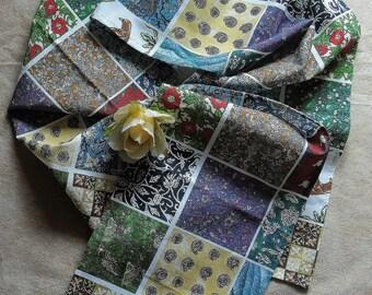 Hand sewn Miscellany neckscarf