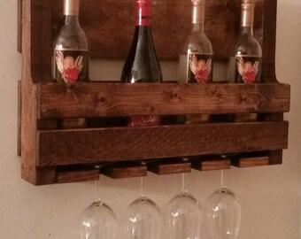 Rustic Pallet Wine Rack // Pallet Wine Rack // Liquor Cabinet // Wooden