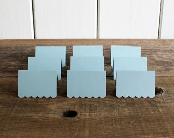 blue place cards for wedding, shower, party set of 100 - delaney
