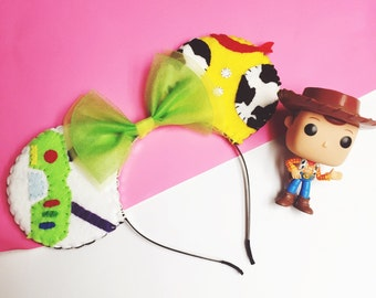 Toy Story Buzz Lightyear and Woody Themed Costume Minnie Mouse (Mickey Mouse) Ears