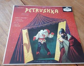 Stravinsky - Petrushka, Ernest Ansermet Conducting L' Orchestre De La Suisse Romande LP Record (1958) London Records CM 9229