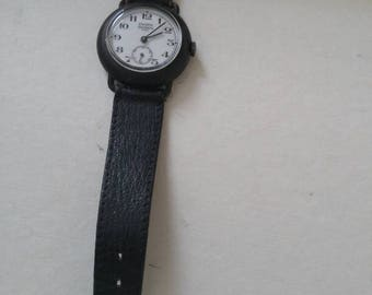 Vintage EMERICH  MEERSON Paris Stainless Steel Backed Wristwatch c 1940