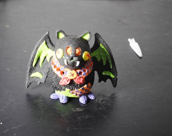 Very Nice Animated Resin Vampire Bat Candle Holder