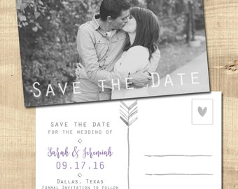 POSTCARD SAVE the DATE | Watercolor Postcard | Postcard Invitation