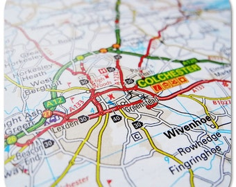 Colchester Map Coasters