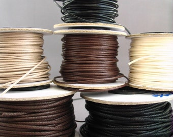 Natural Woven Cotton Cord - 3 yards 9 feet - Choose from 8 colors\/diameters
