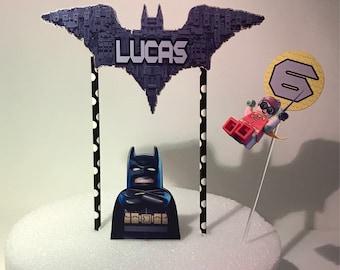 Personalized Lego Batman Cake Topper