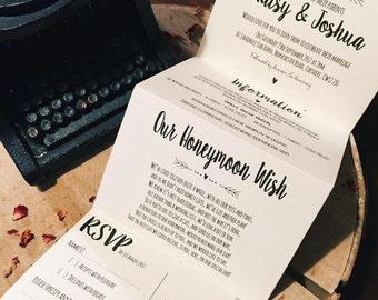 Wedding invitations etsy uk 1 rusticvintageshabby chic maisy wedding invitationcard set sample concertina fold stopboris Choice Image