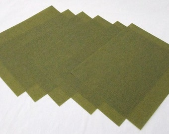 6 Sheets 3M Wet Or Dry Polishing Paper Green 400 Grit 8.5 by 11 Inches