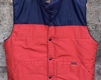 Vintage SPORTCASTER Seattle Vest Camping Fishing Outdoors Rare Mens Medium