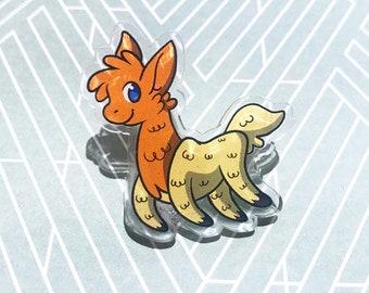 Cute llama pin badge