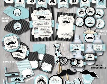 On Sale! Printable Little Man Baby Shower Package-Mustache Baby Shower-Mustache Party Decoration-Little Man Baby Shower Decorations