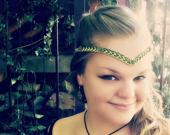 Forest Elf Celtic Weave Circlet Renaissance Costume Crown, LOTR Elven Cosplay