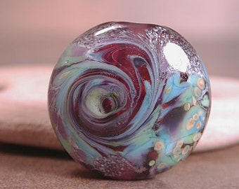 Lampwork Art Glass, Lampwork Focal Bead, Artisan Beads, Purple Lampwork, Divine Spark Designs, SRA