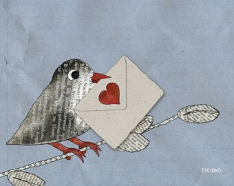 Postcard love message