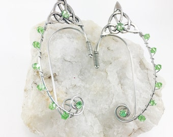 Elven Ear Cuffs - Elf Ears - Fairy Ears - Fairy Ear Cuffs - Non Pierced Earrings - Elven Costume - Cosplay Ears - Celtic Knot - Cosplay Ears