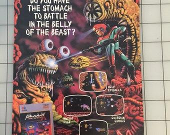 1989 Abadox Nintendo video game ad