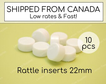 Small rattle inserts, pack of 10