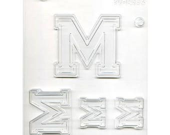 "Collegiate Letter ""M"" Chocolate Candy Mold"