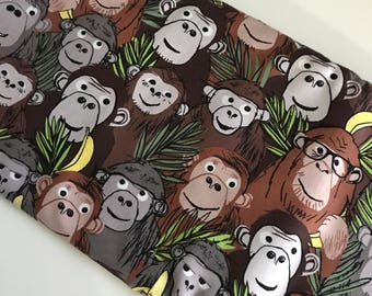 Monkeying Around Main - Benartex Kanvas cotton woven fabric by the yard