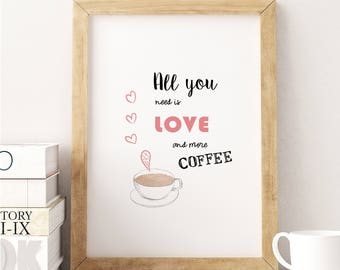 Love and Coffee Print