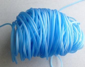 3 Füße blau Gummi Rohr hohl 2,5 mm