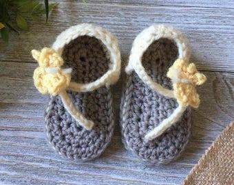 Girl Crochet Sandals; Girl Shoes; Baby Crochet Sandals; Baby Shoes; Toddler Girl Sandals; Butterfly Sandals; Butterfly Shoes