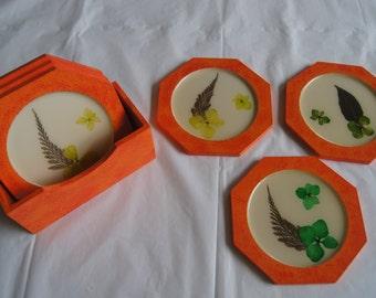 Coaster set of 6, Decorative coaster set, Drink coaster, Handmade coaster.