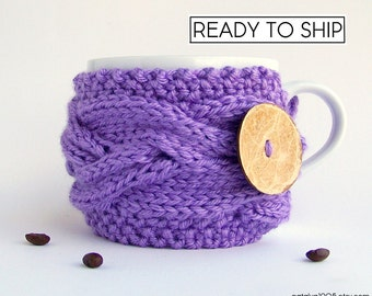 Coffee Cozy, Tea Cozy, Coffee Cup Sleeve, Coffee Gifts, Mug Cozy, Coffee Cup Cozy, Coffee Cup Sleeve Coffee Mug Cozy Coffee Sleeve, Lavender