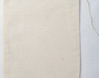 100 5x7 Cotton Muslin Natural Drawstring Bags