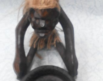 stand for aromapalochek,wooden statuette, a statuette of a man, a statuette in ethnic style, figurines in African style