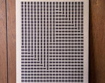 Omicron Eridani Letterpress Dice Print on Chipboard