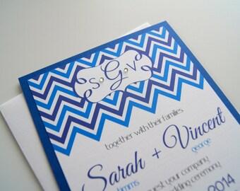 Sarah's Custom Chevron Wedding Invitation Suite