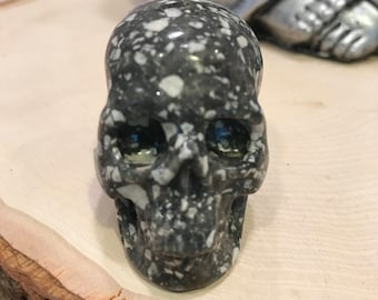 "Skull 2.0"" Sesame Stone *Carved Crystal* Realistic* Crystal Healing* Awesome*"