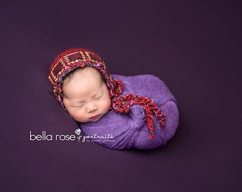 Valentine Photo Prop Newborn Bonnet Holiday Hat Hand Knit Gift Baby Shower Girl Outfit Going Home Cap Red Riding Hood Coming Infant Jewel