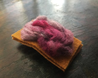 A unique  handmade french barrette. Gorgeous felted wearable art piece - soft,flexible and strong. Cherry blossoms.