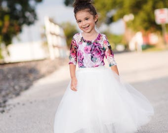 Toddler Tutu Skirt, Flower Girl Tutu Skirt, White Tulle Skirt, Girls Tutu Skirt, Girls Tulle Skirt, Flower Girl Tulle Skirt, Ballerina Skirt