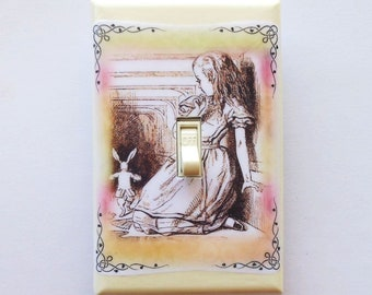 Ornate corners Alice frame designs Oversize Switchplates & MATCHING SCREWS- Alice in Wonderland wall decoration Alice framed nursery prints
