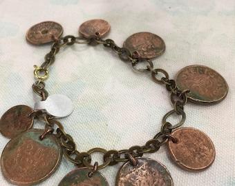 European Copper Coin Bracelet 2