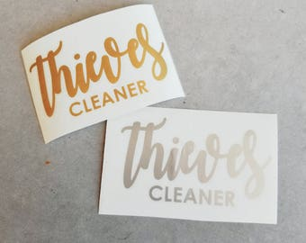 Thieves Cleaner Vinyl Decal for 8oz spray bottle
