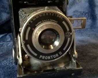 Vintage Camera,Prontor II Gauthier Camera,  Vintage Lens, Photography, Collectibles, Display Piece, 1930s, Folding Camera, Gift Idea, German