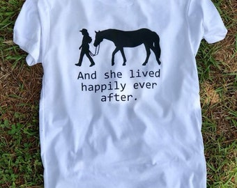 And she lived happily ever after shirt // Horse shirt // Equestrian Shirt // Kid Shirt // Kid horse shirt