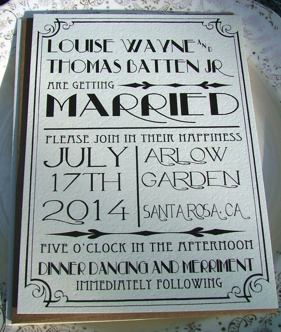 Art Deco Wedding Invitations: Great Art Deco Hollywood Old