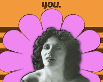 Linda Lovelace Deepthroat Valentine Anniversary I Love You card