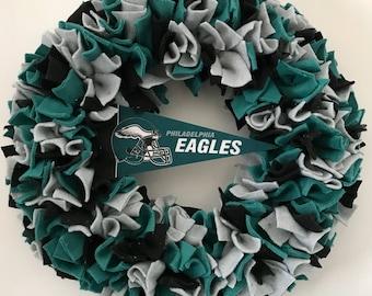 Eagles Football wreath, Philadelphia Eagles, NFL, dorm decor, home decor , eagles fan, sport, door decor, football fan