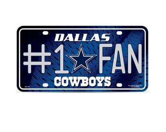 Dallas Cowboys NFL #1 Fan Metal License Plate