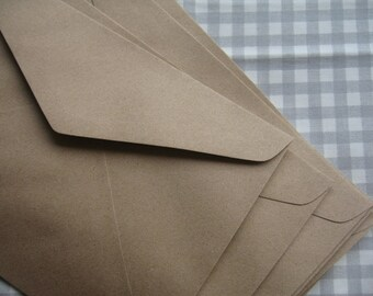 Brown Kraft  Paper Envelopes - Set of 20  ( Large Size : 6 3/8 x 9 inches or 16 x 23 cm.)