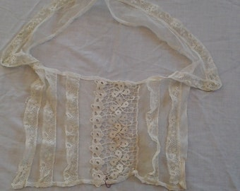Unique Antique Netting and Lace Collar and Bodice